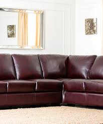 Maroon Living Room Furniture Maroon Brown Ventura Hand Rubbed Leather Sectional Sofa Zulily