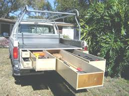 truck bed slide outs drawer tool box pull out rails diy storage