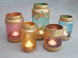 gilded candle lanterns from old jars (via gleefulthings)