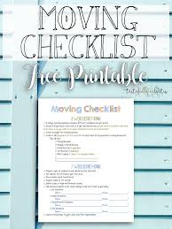 Free Printable Moving Checklist Moving Checklist Free Printable Tastefully Eclectic