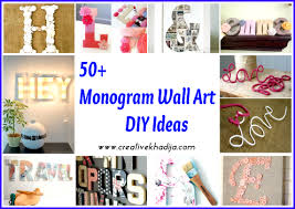 monogram wallart decor ideas