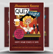 trivia night flyer templates pub quiz night flyer template 1 flyer templates pinterest