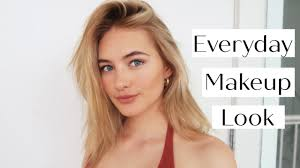 my natural everyday makeup tutorial chatty spring beauty routine sanne vloet