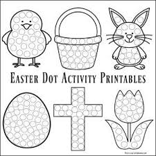 Easter Dot Activity Printables The Resourceful Mama