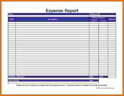 Blank Expense Report Form Monthly Expense Report Template Template Business