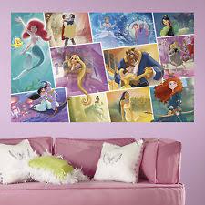 DISNEY PRINCESS STORYBOOK 5u0027 X 3u0027 PEEL AND STICK WALL DECALS MURAL Bedroom  Decor