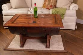 ... Coffee Table, Elegant Brown R'ectangle Indsutrial Wood Wine Barrel Coffee  Table Idea Which ...