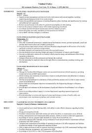 Sample Resume For Facility Maintenance Manager Facilities Maintenance Manager Resume Samples Velvet Jobs 30