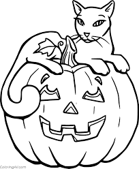 Search through 623,989 free printable colorings at getcolorings. Cat On A Pumpkin Coloring Page Coloringall