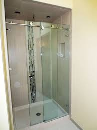 trackless frameless glass sliding shower door skyline series frameless sliding