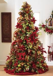 christmas trees decorated in red and gold. Perfect And Beautiful Christmas Tree Featuring Red Green And Gold Ornaments To Trees Decorated In Red And Gold O