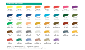 Fw Inks Colour Chart Daler Rowney Fw Ink Colour Chart In 2019 India Ink