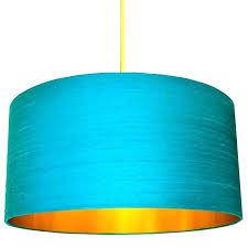 bright blue lamp shade