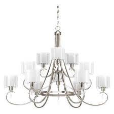 invite 12 light 3 tier chandelier 75 w brushed nickel