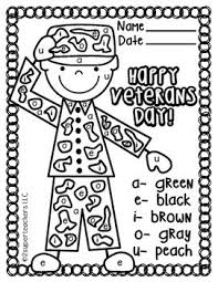 The annual festival of veterans day is a joyous occasion for all ages, especially kids who love to commemorate this day with a few veterans day coloring sheets through which they can showcase their respect for their fallen heroes. Veterans Day Free Color Code Veterans Day Activities Veterans Day Coloring Page Veterans Day