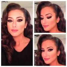 hair makeup just add a red lip enement party look