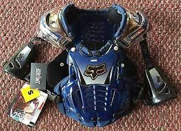 Fox Airframe Size Chart Fox Racing Airframe Chest Protector Blue Size Small 50 00