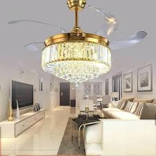 crystal ceiling fan chandeliers
