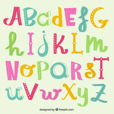 Free Download Letter Cute Alphabet Letters Vector Free Download