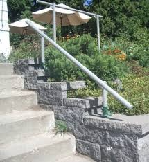 outside handrail leading to the garden