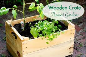 wooden crate themed gardens natural