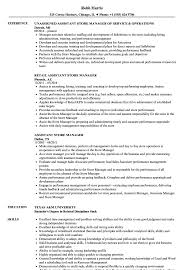 Assistant Store Manager Resume Sample Striking Templates Job