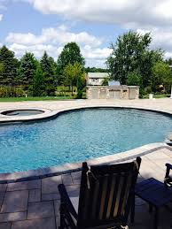 patios and outdoor living areas around a pool ma