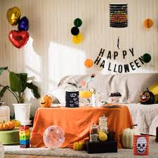 <b>Halloween</b> Pumpkin Paper Lantern Scene Props Ghost Festival ...