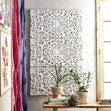 wood carvings wall decor chic ideas white or whitewashed art west elm black carved wooden decorative wood carvings wall decor