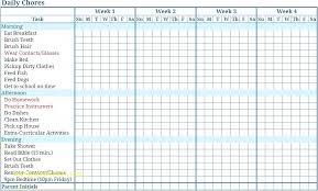 Family Chore Charts Printable Template Careeredge Info