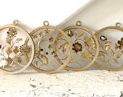 vintage metal wall art gold