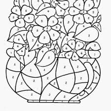 Color By Number Coloring Pages For Kids With Amazing Christmas Free