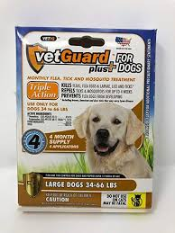 Vetguard Plus Dosage Chart Vetguard Plus For Dogs Large 33 66 Lbs 4 Month Supply