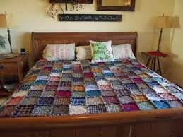 King Patchwork Rag Quilt Made to Order Handmade Rustic & 🔎zoom Adamdwight.com