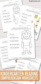 Kindergarten Reading Comprehension Worksheets - Itsy Bitsy Fun