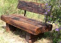 rustic wooden outdoor furniture. Rustic Outdoor Garden Seat, Furniture Wooden E