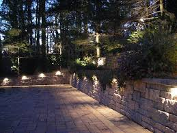 image outdoor lighting ideas patios. Lights Lining A Garden Wall Image Outdoor Lighting Ideas Patios E