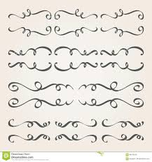calligraphic elements and page decoration stock vector ilration of drawing book 84479243