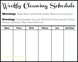 Weekly Household Chore List Household Chores Schedule Template Free House Rafaelfran Co