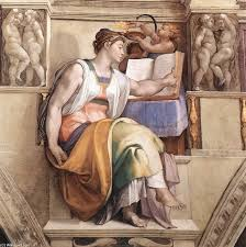 paintings reions michelangelo buonarroti ceiling of the sistine chapel sybils erithraea