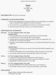 Hybrid Resume Template Word