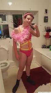Hot teen wearing pink