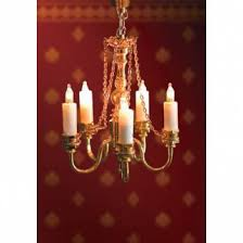 deluxe single candle dolls house light
