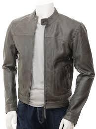 men s grey leather biker jacket oldenburg front