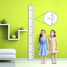 Kids Wall Growth Chart Baby Growth Chart Canvas Wall Hanging Rulers For Kids Room