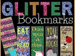 Design Bookmarks Printable Glitter Bookmarks For Students Set Of 10 Designs