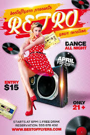 free flayers freepsdflyer retro party free flyer template for retro and old