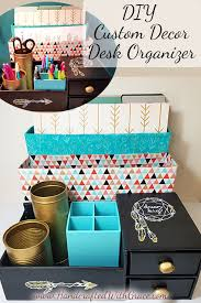 diy office decor. DIY Custom Decor Desk Organizer Recycle Boxes Into A To Fit Your Office Diy