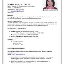 Resume Sample For Job Application Resume For Job Application Format