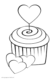 Small Picture Heart shaped balloons coloring page for print out